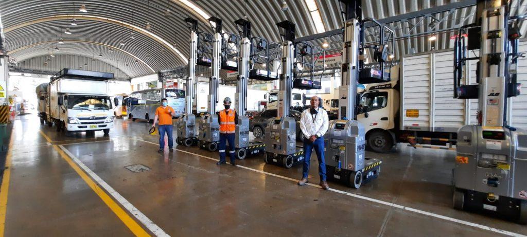 ALO Perú gran entrega de Elevadores Mástil JLG 20 MSP para cadena retail