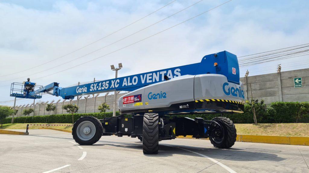 ALO Perú entrega unidad vendida: Brazo Telescópico Genie SX-135 XC para proyecto minero