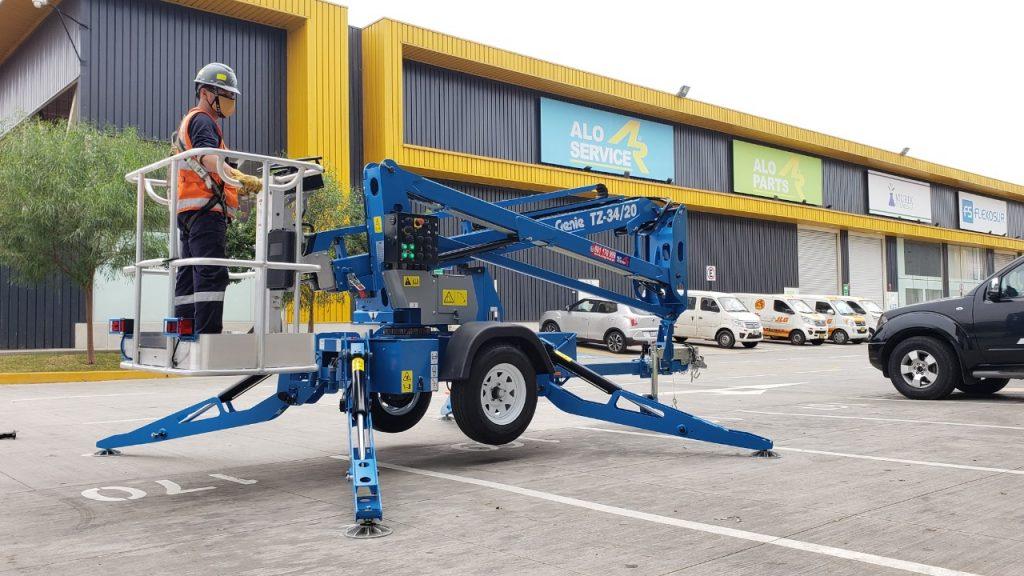 ALO Perú entrega Brazo Articulado Eléctrico Remolcable Genie TZ 34/20 vendido a proyecto minero