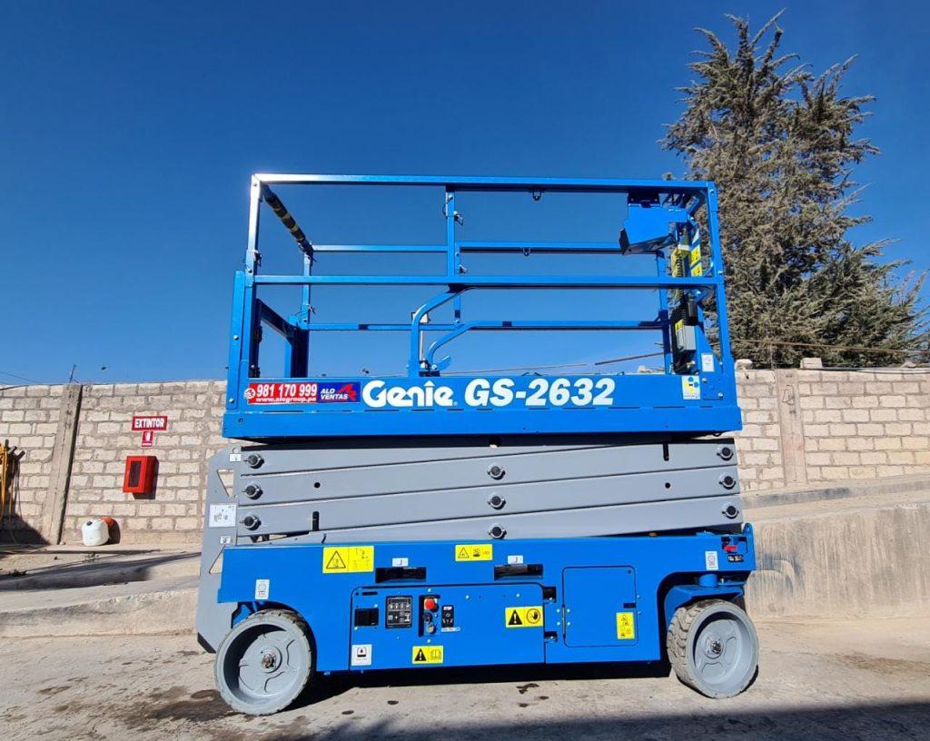 ALO Ventas Perú entrega Elevador Tijera Eléctrico Genie GS 2632 a importante proyecto minero